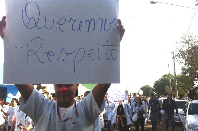 Contra descaso de Olarte, enfermeiros exigem respeito/Foto: Wanderson Lara