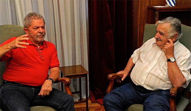Lula e José Mujica.