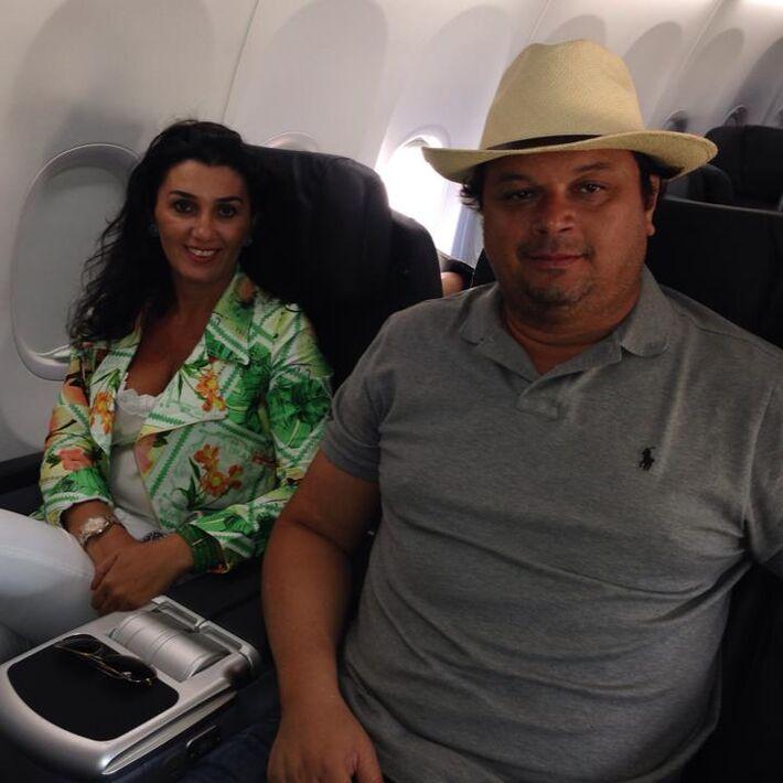 Paulo Matos e esposa, secretária Liz Derzi/Foto:reprodução Facebook