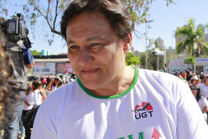 Presidente do Sindicato dos Servidores Municipais, Marcos Tabosa. Foto: Wanderson Lara.