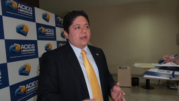 Roberto Oshiro primeiro secretário da ACICG/Foto: Fabíola Camilo