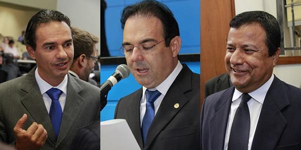 Deputados Marquinhos Trad, Felipe Orro e Amarildo Cruz/Foto: arquivo
