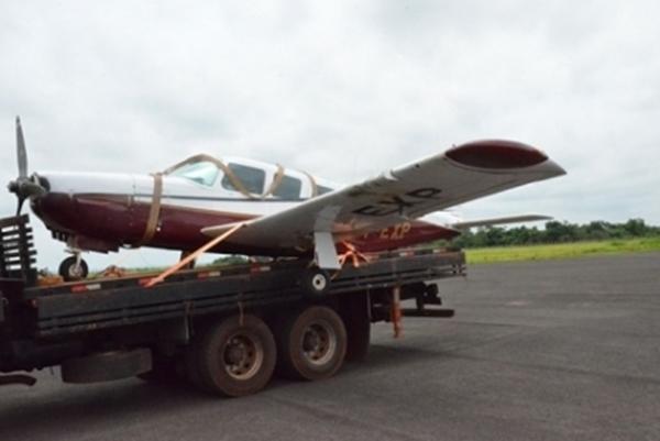 Avião encontrado em Paranavaí/Foto: Diário do Noroeste