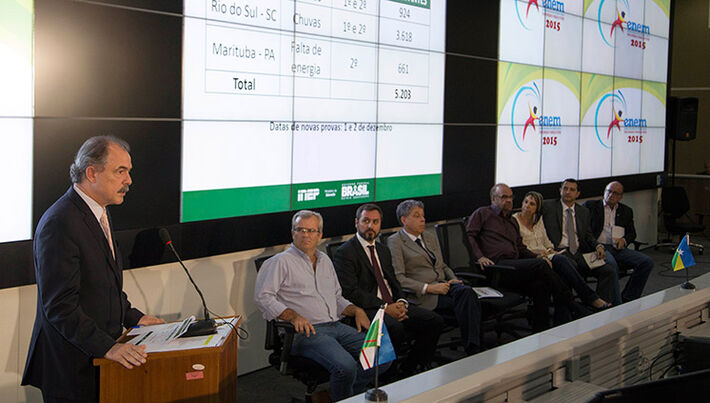 Ministro Aloizio Mercadante durante coletiva/Foto: Isabelle Araújo/MEC