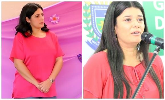Luciana Azambuja Roca, subsecretária de Políticas Públicas para Mulheres e Rose Modesto, vice governadora de MS