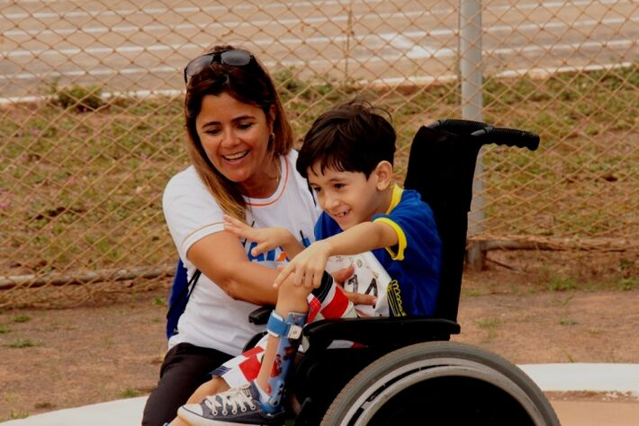 Hoje, as provas de atletismo foram disputadas Centro Olímpico na Vila Nasser