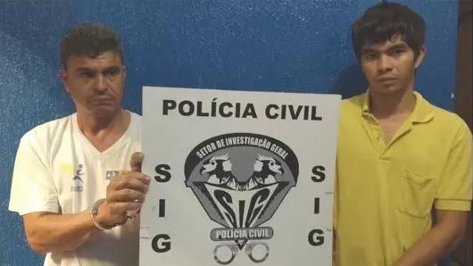 Weligton e Gleison foram presos e autuados em flagrante. (Foto: Divulgação)