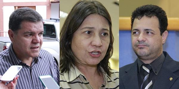 Paulo Pedra, agora secretário de Bernal, e vereadores Luiza Ribeiro e Cazuza - Foto: Arquivo MS Notícias