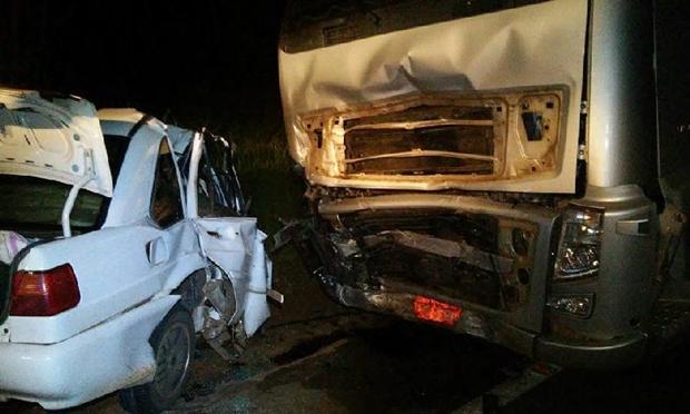 Acidente aconteceu sexta-feira (6) de matou dois adultos e três crianças/Foto: Chapadense News Notícias
