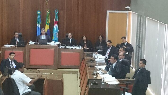 Salem Pereira Vieira presta Depoimento no TJMS (Foto: Fabíola Camilo)