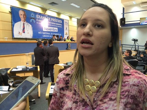 Vereadora Thais Helena/Foto: Taciane Peres