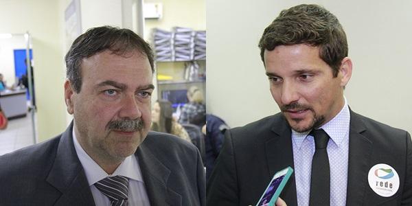 Vereadores Paulo Siufi e Eduardo Romero