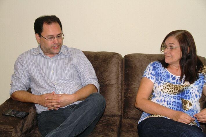 Ricardo Gomes e Neide Herrero, coordenadores da Rede em MS