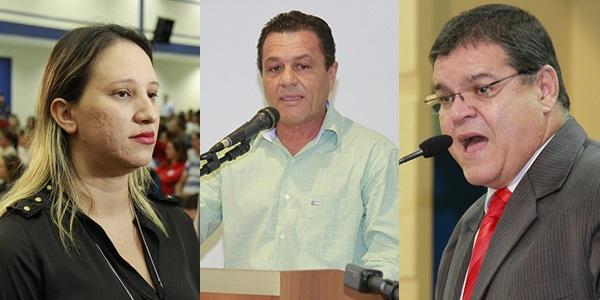 Thais Helena, Delei Pinheiro e Paulo Pedra