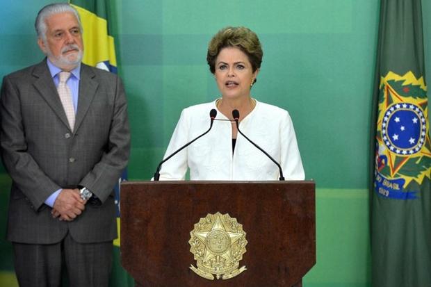 Ministro chefe da Casa Civil, ,Jaques Wagner e presidente Dilma Rousseff
