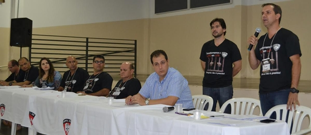 O Sinpol em assembléia/Foto: Divulgação Sinpol-MS