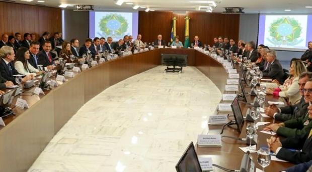 Reunião da Presidente Dilma Rousseff com governantes do país/Foto: Divulgação