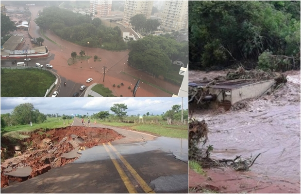 Cidades alagadas em decorrência das chuvas/Foto: Divulgação