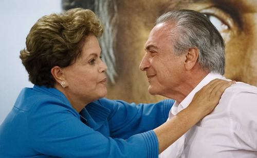 Presidente Dilma e vice Michel Temer