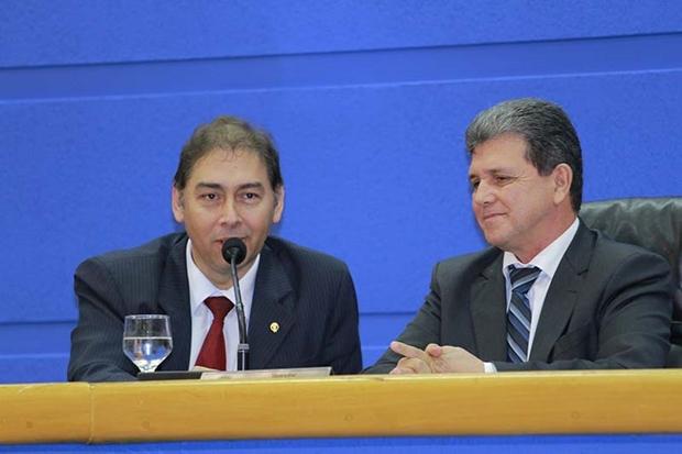 Prefeito Alcides Bernal e presidente da Câmara João Rocha