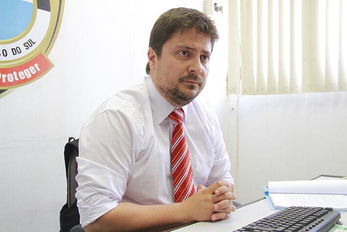 Delegado Bruno Urban, responsável pelo caso