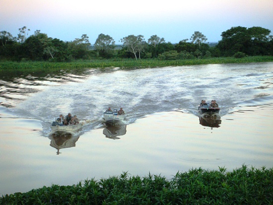Fiscalização nos rios em período de piracema