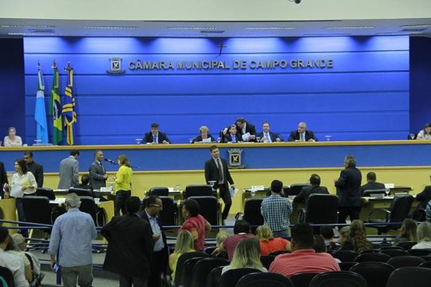 Câmara Municipal durante sessão
