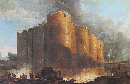 Fortaleza da Bastilha em Paris