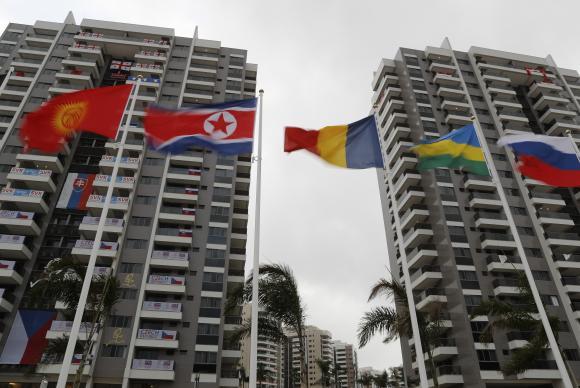 Vista da área residencial da Vila Olímpica dos Jogos Rio 2016, onde estão hospedados os atletas