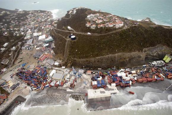 Passagem do furacão Irma pela província holandesa de Philipsburg, na ilha de San Martín