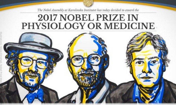 Trio vencedor do Nobel de Medicina 2017