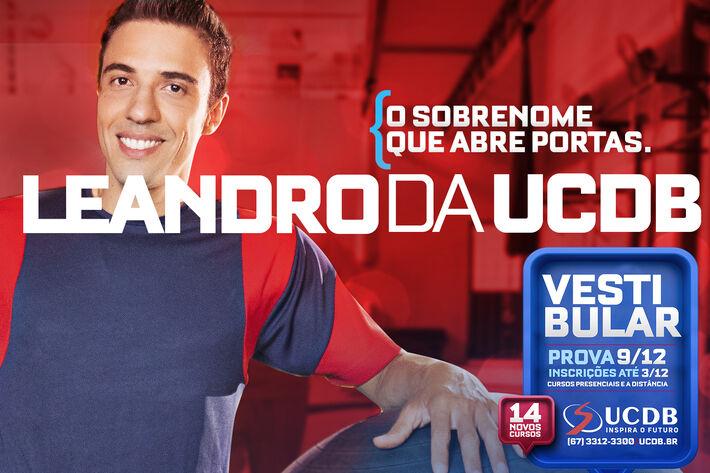 Inscrições pelo site www.ucdb.br/vestibular