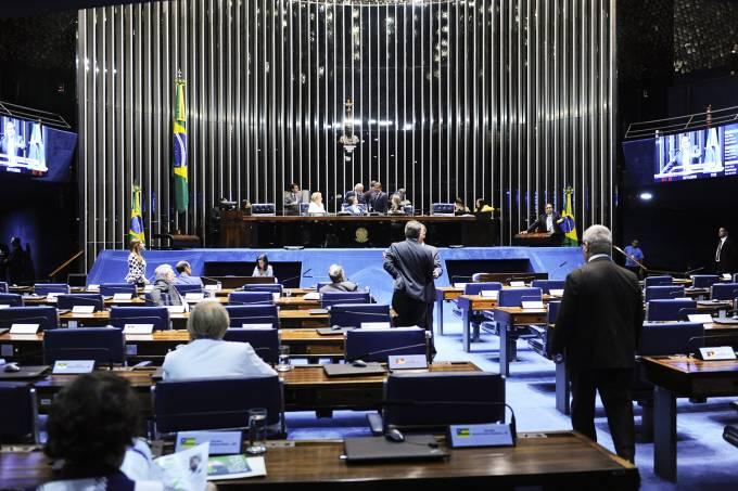 Plenário do Senado Federal durante sessão deliberativa ordinária - 07/11/2018