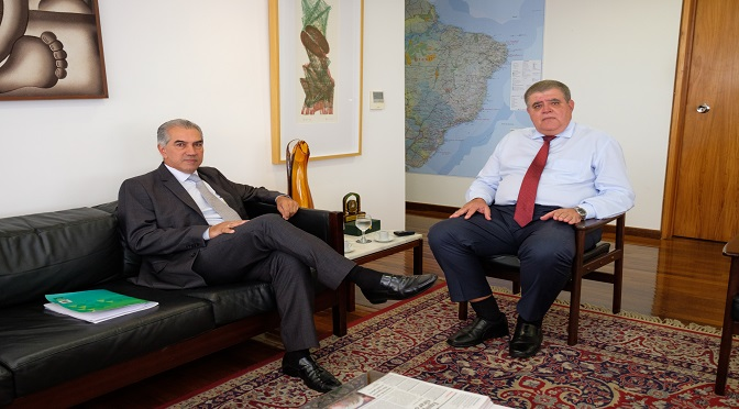 Governador de MS Reinaldo Azambuja e Ministro CarloS Marum