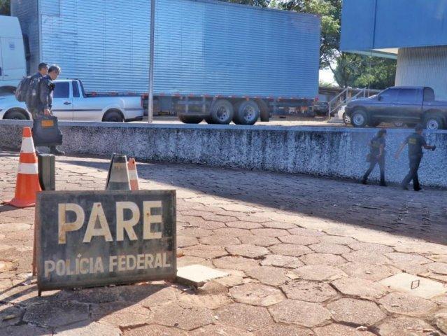 Movimentação na sede da PF (Polícia Federal) em Campo Grande durante operação no dia 6 de fevereiro, a primeira deflagrada pela corporação neste ano em Mato Grosso do Sul