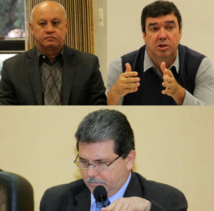 Carlos Alberto de Assis (centro), João Rocha (esquerda), José Eduado Riedel (direita)