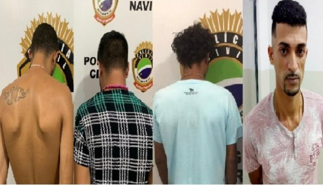 Os três primeiros foram presos durante a operação. O quarto é Cristhiano que está foragido