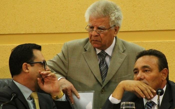 Dá esquerda para direita: Flávio Cesar, Edil e Carlão.