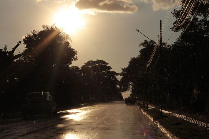 Chuva que na tarde desta quarta-feira na região sul de Campo Grande