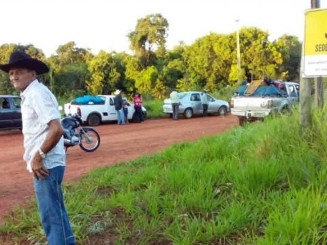 Ocupantes na Fazenda Terra Branca