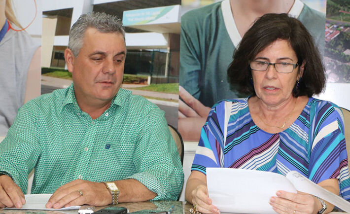 A ex-prefeita Márcia Moura (MDB) e o prefeito Ângelo Guerreiro (PSDB)