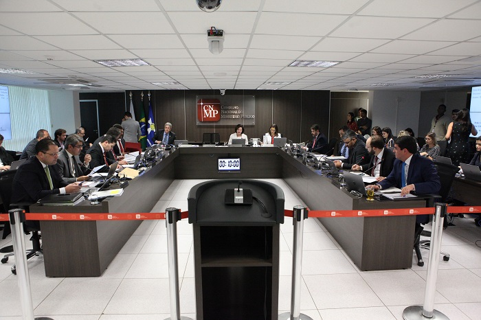 Plenário do Conselho Nacional do Ministério Público, no dia 23 de abril