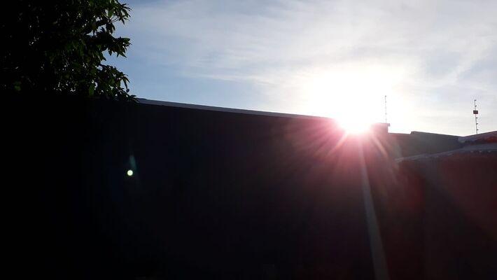 Registro do céu na região da Base Aérea em Campo Grande