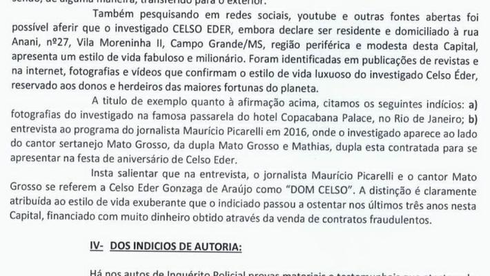 Reprodução de registro da Dedfaz, no qual ex-deputado dava outro tratamento a empresário preso acusado de dar golpe em 60 mil