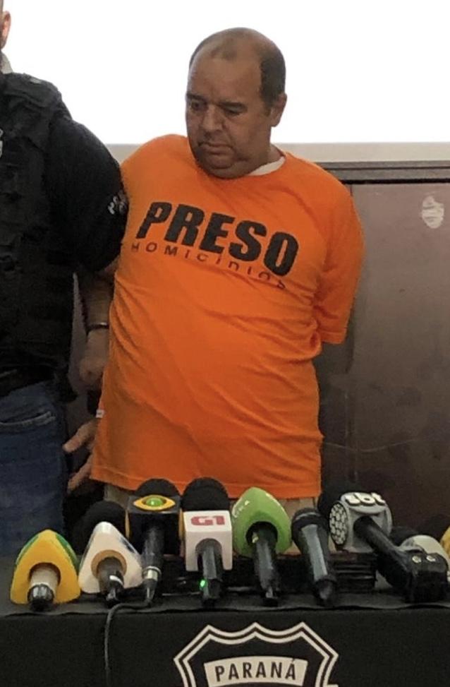 Carlos Eduardo dos Santos é suspeito de matar a menina Rachel Genofre e colocar o corpo em uma mala, em Curitiba