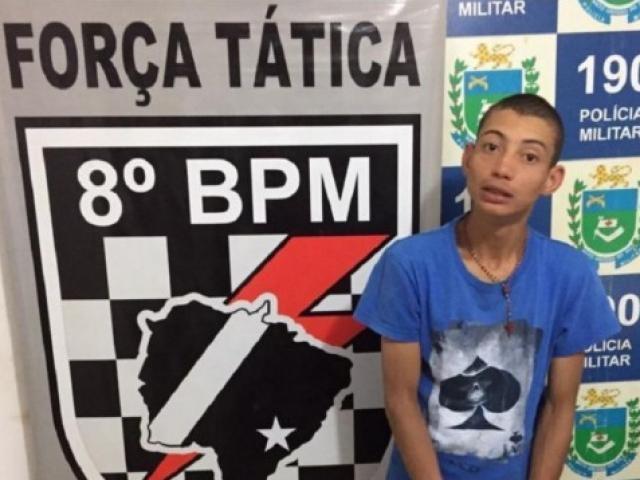 Gabriel de Souza Campos, conhecido como Biel, de 21 anos, quando foi preso em agosto