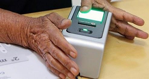 O cadastramento biométrico é o procedimento de coleta das impressões digitais
