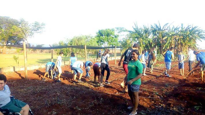 Estudantes participam do Projeto Horta Escolar Agroecológica que garante a produção de alimentos para a comunidade estudantil  Assecom