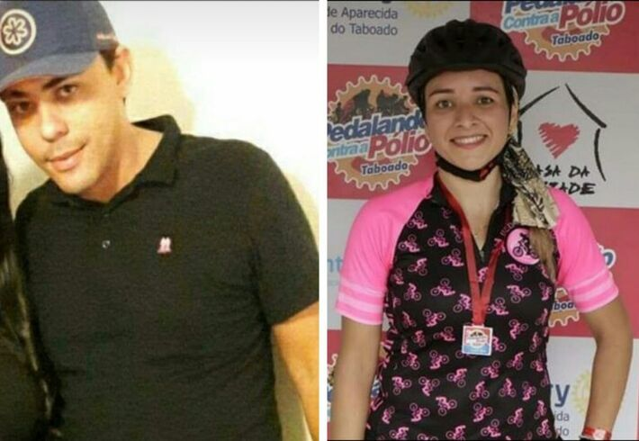 O correto de imóveis Fernando Enrique Freitas e a Regianni Araujo, de 32, assassinados pelo policial Lúcio Roberto Queiroz Silva