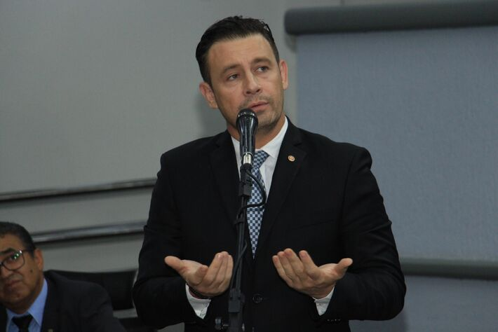 O vereador André Salineiro